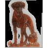 Rosttafel - Rhodesian Ridgeback mit Löwe - 40cm