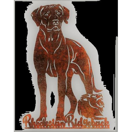 Rosttafel - Rhodesian Ridgeback mit Löwe EXTRA GROSS - 60cm