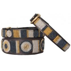 METALLIC CIRCLE  Massai Halsband